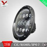 """7 """" luces de conducción altas-bajas de la viga LED para el Wrangler del jeep"""