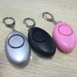 Deutschland-rosafarbene schwarze Dame Personal Alarm mit Schlüsselketten-Blitz-Licht-Stützfirmenzeichen Soem-Paket