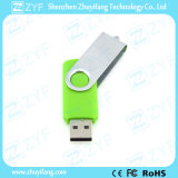Azionamento verde chiaro del USB della plastica 16GB di torsione del metallo (ZYF1822)