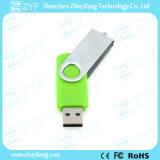 Hellgrünes Metalltorsion-Plastik16gb USB-Laufwerk (ZYF1822)