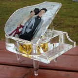 Персонализированное Engraving Crystal Piano Music Box для Wedding Gift