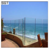 SGTからのガラスか手すりを囲うプールのための10mm/12mm強くされた低い鉄ガラス