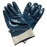 Сверхмощная голубая перчатка Китай работы безопасности перчаток нитрила