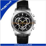 La montre de chronographe de montre de Postar pour les hommes imperméabilisent la qualité
