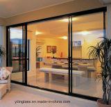 Hochfestes eingekerbtes niedriges Eisen-ausgeglichenes Glas für Tür