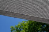 Vela de la cortina de Sun del jardín del HDPE, pabellón, toldo, 8 años de garantía, protección ULTRAVIOLETA del 98%, color gris oscuro (fabricante)