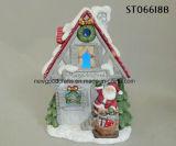 Het Aangestoken Huis Polyresin van Kerstmis Dorp
