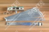 four de tube de quartz du vide 1000c avec des brides de tube et de vide de quartz de 80mm