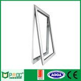 Guichet en aluminium de manivelle de profil avec la double glace fabriquée en Chine
