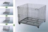 Zusammenklappbarer geschweißter Speichermaschendraht-Behälter-Lager-Verbrauch