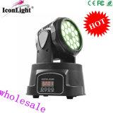 ベストセラー18X3w RGB 3in1小さい移動ヘッドライト(ICON-M005B)