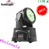 Luz principal movente da lavagem pequena barata de 18*3W RGB (ICON-M005B)