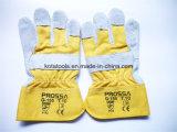 Guante de trabajo de cuero de los guantes de cuero de la seguridad en el trabajo