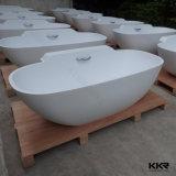 Kingkonree runde tiefe feste freistehende Oberflächenbadewanne