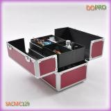 高品質のアルミニウム堅い運ぶケースの赤いカラー釘の美の箱(SACMC129)を