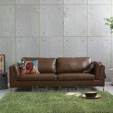 Sofá de couro do Japonês-Estilo e sofá moderno da sala de visitas