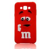 caja del teléfono celular del silicón de la historieta de las habas del milímetro para el iPhone/Samsung/LG/Huawei/Moto