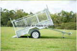 Winchとの600mm Cageの熱いDipped Galvanized Box Trailer