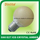 Bombilla G60-cristal de hielo ámbar incandescente