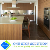 Gabinetes de cozinha dourados do revestimento do folheado da mobília Home (ZY 1076)