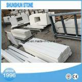 Dessus bon marché de vanité de salle de bains de pierre de quartzite de la Chine