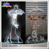 휴일 옥외 금속 백색 각 LED 훈장 결혼식 빛