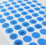 Étiquettes adhésives faites sur commande d'autocollant de numéro de série de la taille A4