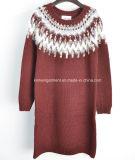 円形の首の長い袖(16-306)の女性の方法セーター