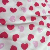 tela 100%Cotton impressa flanela para senhoras Sleepwears