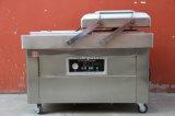 Type machine à emballer de stand de vide de chambre de double de fruits de mer de viande