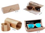 Capa de óculos de bambu em madeira com logotipo personalizado