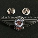 Pin feito sob encomenda do Lapel da forma da asa do piloto do metal