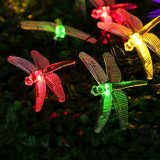Iluminación al aire libre LED Gargen de la Navidad ligera solar de la libélula