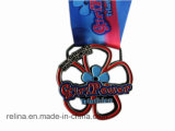 Hinterschlamm-EBB-Medaille des Zoll-laufende Ereignis-Marathon-5k 10k mit Farbband