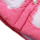 A tecla por atacado caçoa o inverno que veste o revestimento cor-de-rosa para meninas