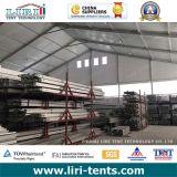 Il magazzino provvisorio struttura 60 x 170m per memoria ed il workshop