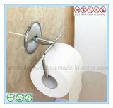 Fini fixé au mur de chrome de crémaillère de tissu de salle de bains de support de papier de rouleau de papier hygiénique