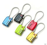 Kabel Tsa Luggage Lock mit 3-Digit&Padlock