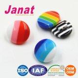 Кнопка пластмассы смолаы причудливый цветастого купола форменный