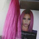 """"""" grampo elegante da extensão longa do cabelo 26 no #Purple da trama do cabelo"""