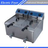 商業二重タンク深く脂肪質の電気フライヤーDzl-36V