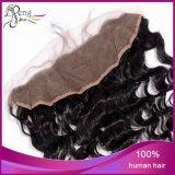 bandeau profond de lacet de cheveux humains de Vierge de vague de 100%Unprocessed 13X4