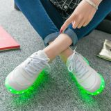 Luminous USB Charging Light Chaussures LED avec 11 couleurs modifiables