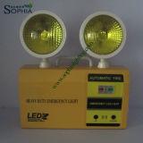 5W 8 ore di lampada di soccorso gemellare delle teste LED