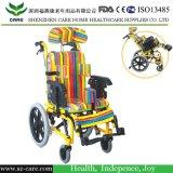 Fauteuil roulant en acier passé au bichromate de potasse économique d'enfants