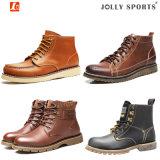 Кожаный вскользь ботинки безопасности ботинок для Men&Women