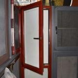 Guichet vers l'intérieur d'inclinaison et de spire de profil en bois en aluminium de la qualité Kz251 avec l'obturateur dans la double glace