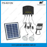 Gleichstrom-HauptSonnensystem mit 2 Solarbirne der Licht-Handy-Aufladeeinheits-4W des Sonnenkollektor-2W für Familie