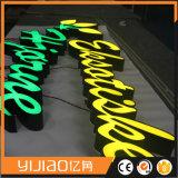 Vorderes Zeichen-Zeichen des Lit-LED, Firmenzeichen LED-Facelit