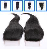 Бразильские Hairpieces закрытия 13*5 /13 *3 шнурка волос Remy